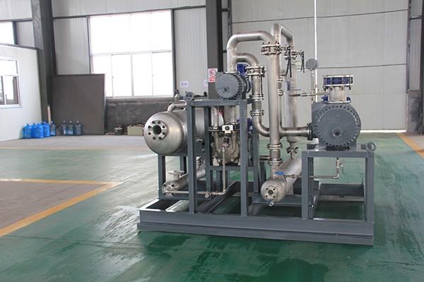 带冷却回收系统的水环罗茨闭式循环机组